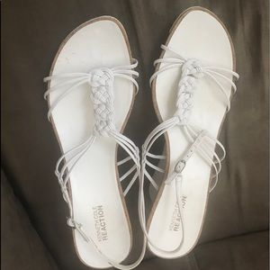 🌸KENNETH COLE REACTION SZ 10 WHITE Strappy Heels